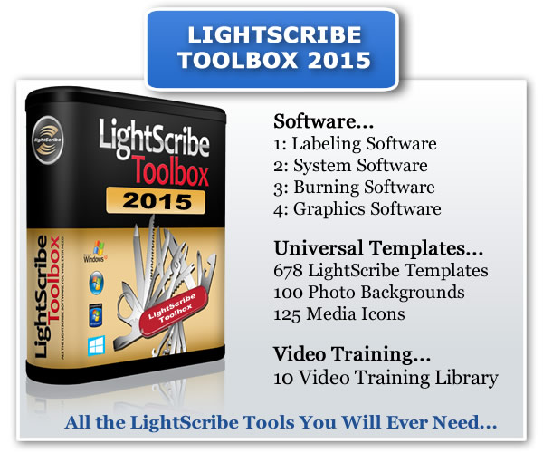 The LightScribe Toolbox 2015 Contents