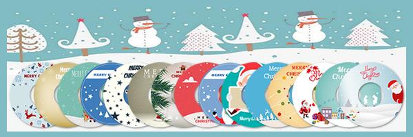 15 LightScribe Christmas Templates
