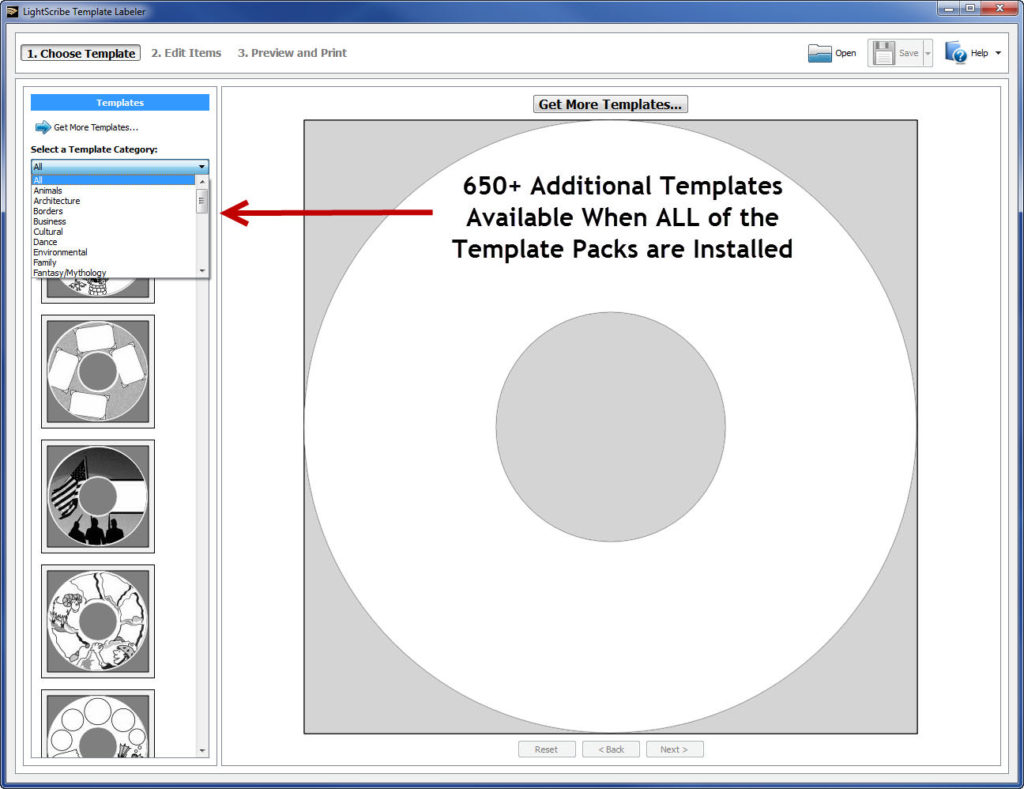 LightScribe Template Labeler Software