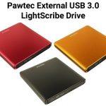 Pawtec External USB 3.0 LightScribe DVD Drive